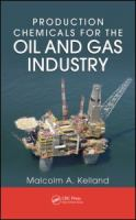 Cover image for Production chemicals for the oil and gas industry