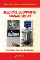 Cover image for Medical equipment management