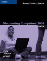 Cover image for Discovering computers 2008 : complete