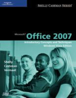 Cover image for Microsoft office 2007 : introductory concepts and techniques