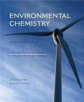 Cover image for Environmental chemistry