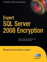 Cover image for Expert SQL server 2008 encryption