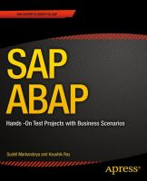 Cover image for SAP ABAP : hands-on test projects with business scenarios