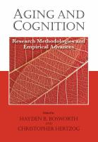 Cover image for Aging and cognition : research methodologies and empirical advances