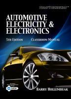 Cover image for Automotive electricity and electronics