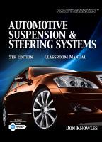 Cover image for Today's technician : automotive suspension & steering systems