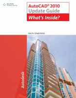 Cover image for Update guide to AutoCAD 2010 : what's inside?