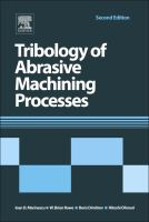 Cover image for Tribology of abrasive machining processes /Ion D.Marinescu...[et al.].