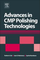 Cover image for Advances in CMP/polishing technologies for the manufacture of electronic devices