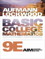 Cover image for Basic college mathematics : an applied approach