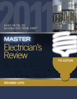 Cover image for Master electrician's review : based on the National electrical code 2011