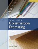 Cover image for Fundamentals of construction estimating