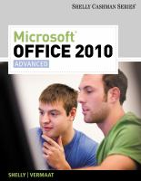 Cover image for Microsoft Office 2010 : advanced
