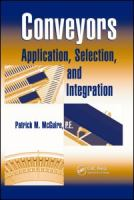 Cover image for Conveyors : application, selection, and integration