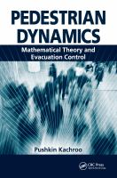 Cover image for Pedestrian dynamics : mathematical theory and evacuation control