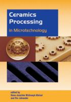 Cover image for Ceramics processing in microtechnology
