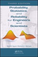 Cover image for Probability, statistics, and reliability for engineers and scientists