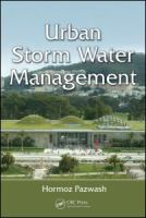 Cover image for Urban storm water management
