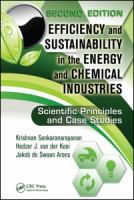 Cover image for Efficiency and sustainability in the energy and chemical industries : scientific principles and case studies