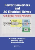 Cover image for Power converters and AC electrical drives with linear neutral networks