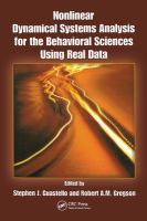 Cover image for Nonlinear dynamical systems analysis for the behavioral sciences using real data