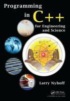 Cover image for Programming in C++ for engineering and science