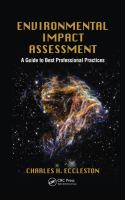 Cover image for Environmental impact assessment : a guide to best professional practices