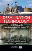 Cover image for Desalination technology : health and environmental impacts