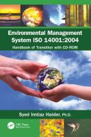 Cover image for Environmental management system ISO 14001:2004 : handbook of transition with CD-ROM