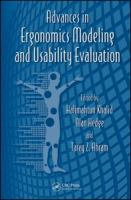 Cover image for Advances in ergonomics modeling and usability evaluation