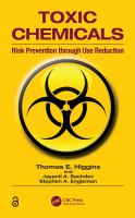 Cover image for Toxic chemicals : risk prevention through use reduction