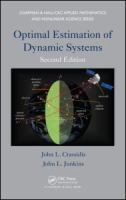 Cover image for Optimal estimation of dynamic systems
