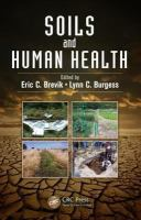 Cover image for Soils and human health