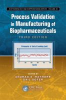 Cover image for Process validation in manufacturing of biopharmaceuticals