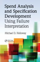Cover image for Spend analysis and specification development using failure interpretation