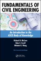 Cover image for Fundamentals of civil engineering : an introduction to the ASCE body of knowledge