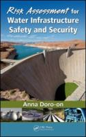 Cover image for Risk assessment for water infrastructure safety and security