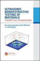 Cover image for Ultrasonic nondestructive testing of materials : theoretical foundations