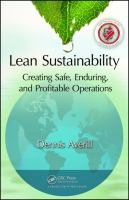Cover image for Lean sustainability : creating safe, enduring, and profitable operations