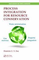 Cover image for Process integration for resource conservation