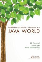 Cover image for Introduction to compiler construction in a Java world