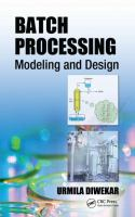Cover image for Batch processing : modeling and design