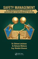 Cover image for Safety management : a comprehensive approach to developing a sustainable system