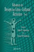 Cover image for Advances in design for cross-cultural activities