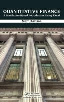 Cover image for Quantitative finance : a simulation-based introduction using Excel