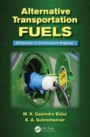 Cover image for Alternative transportation fuels : utilisation in combustion engines