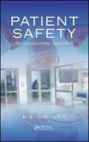 Cover image for Patient safety: an engineering approach