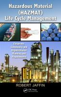 Cover image for Hazardous material (HAZMAT) life cycle management : corporate, community and organizational planning and preparedness