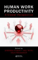 Cover image for Human work productivity : a global perspective
