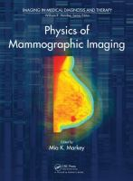 Cover image for Physics of mammographic imaging